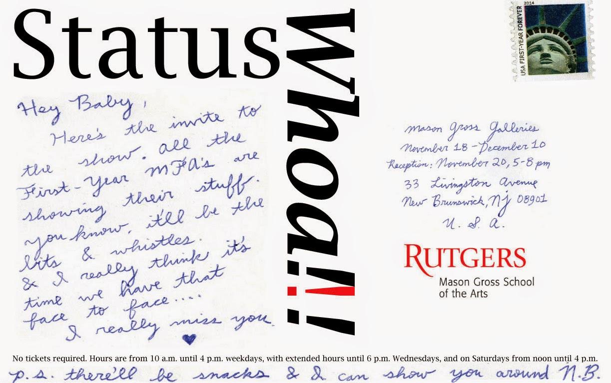 Rutgers MFA Blog: Oct 28, 2014