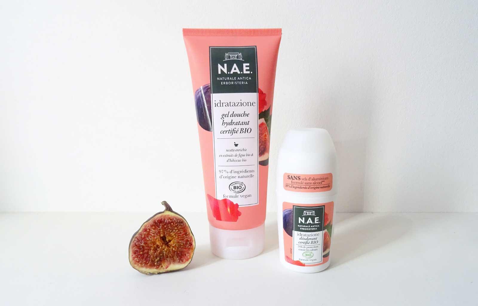 """gel douche déodorant """"idratazione"""" N.A.E. figue hibiscus"""