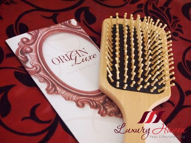 origin luxe chinatown wooden comb for head massage