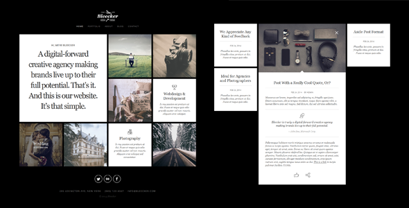 Responsive Photography template