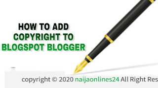 add copyright to blogger