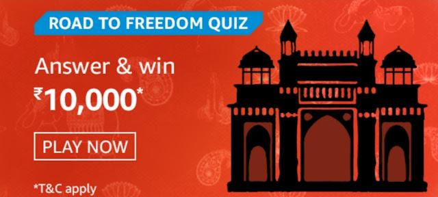 Amazon Road To Freedom Quiz Answers