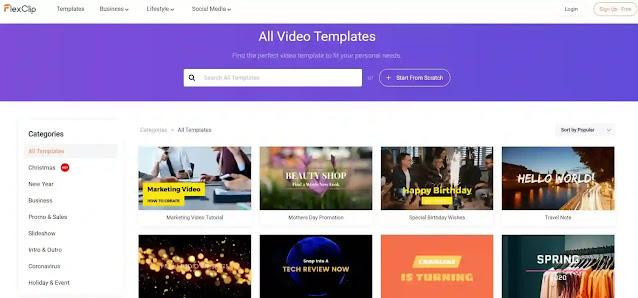 نبذة عن موقع FlexClip وكيفية استخدامه في انشاء مقاطع فيديو احترافية