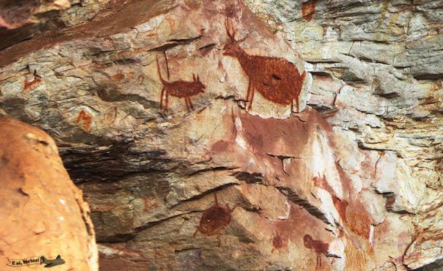 Segundo paredão, Sítio Arqueológico Pedra Pintada, Barão de Cocais, Cocais, Estrada Real, Caminho dos Diamantes, MG, Pintura Rupestre
