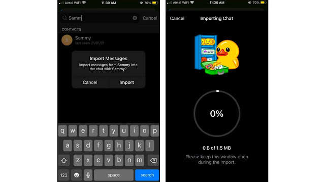 """ميزة """"إستيراد دردشة WhatsApp"""" تصل إلى Telegram...إليك الطريقة."""