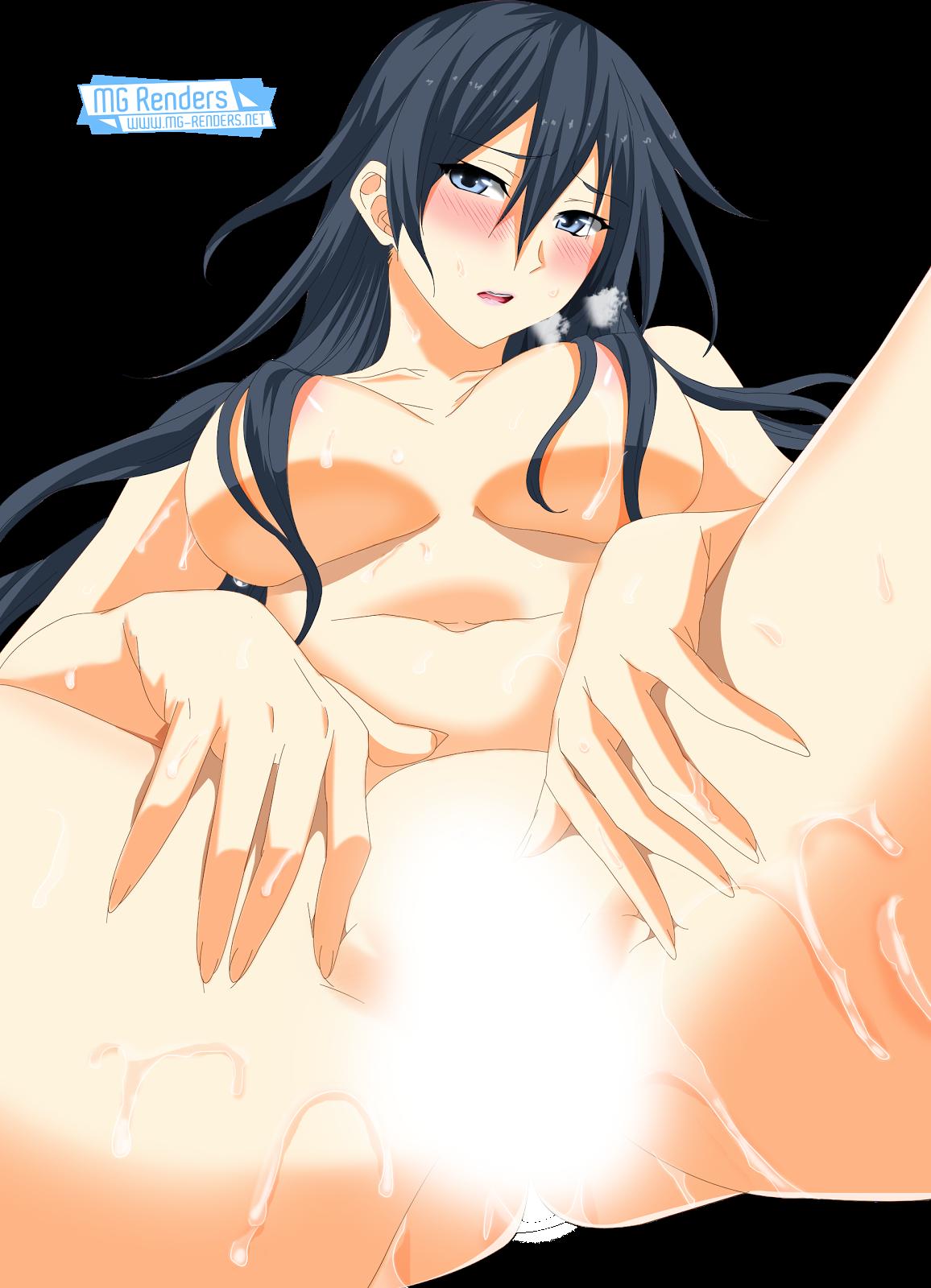 Tags: Anime, Render,  Hida Reiri,  Hisasi,  Masou Gakuen HxH,  Topless,  PNG, Image, Picture