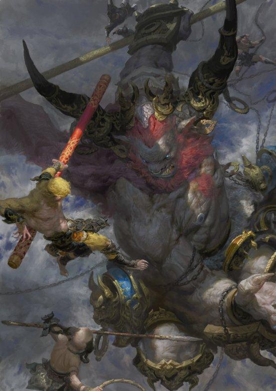 Fenghua Zhong deviantart artstation ilustrações fantasia ficção científica mitologia lendas chinesas oriental sombrio impressionante sun wukong