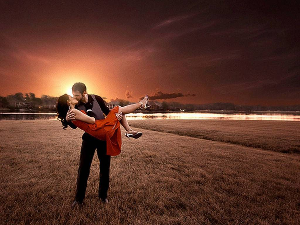 Beautiful Love Couple Kiss Pictures Full Hd Wallpapers Ou