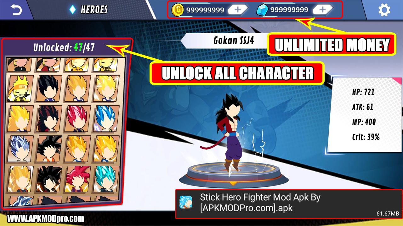 Download Stick Hero Fighter MOD APK v1.1.4 [Unlimited Money/Coins, No Ads]