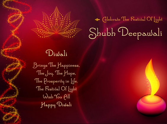 diwali wishes message in english