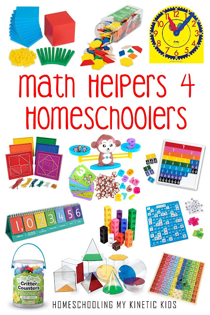 Math Tools for Homeschoolers to use in their home classroom.  Great for virtual learning too!