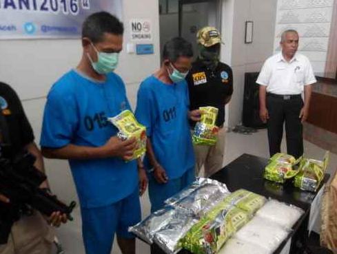 BNN Aceh Ringkus TNI Saat Transaksi Sabu di Depan Mesjid Geudong