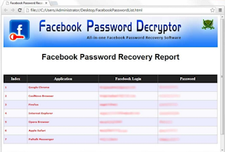 facebook password decryptor free download