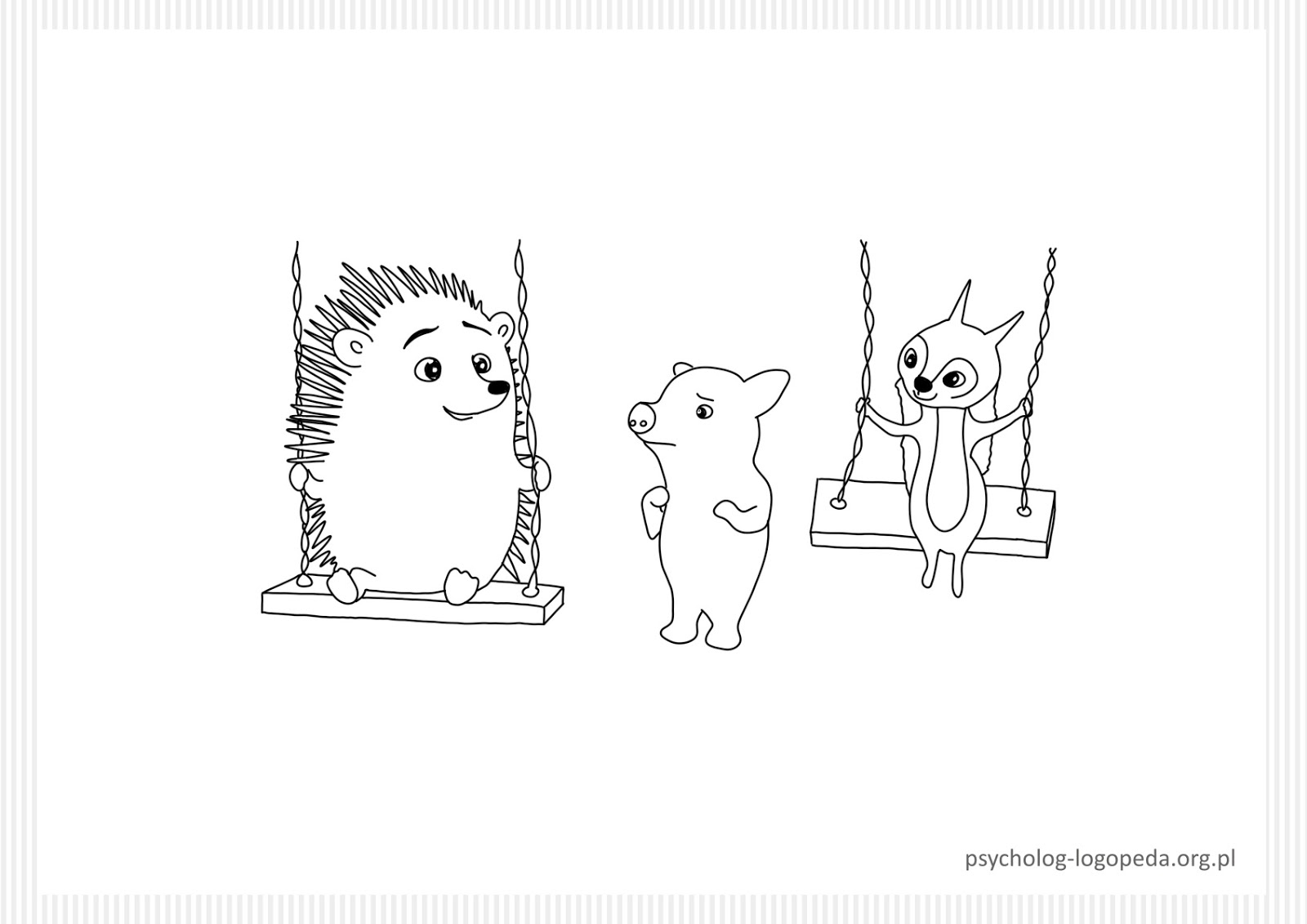 free coloring page hedgehog animals