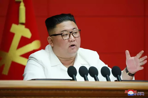 Kim Jong Un at WPK 7th CC 6th plenary meeting, August 19, 2020