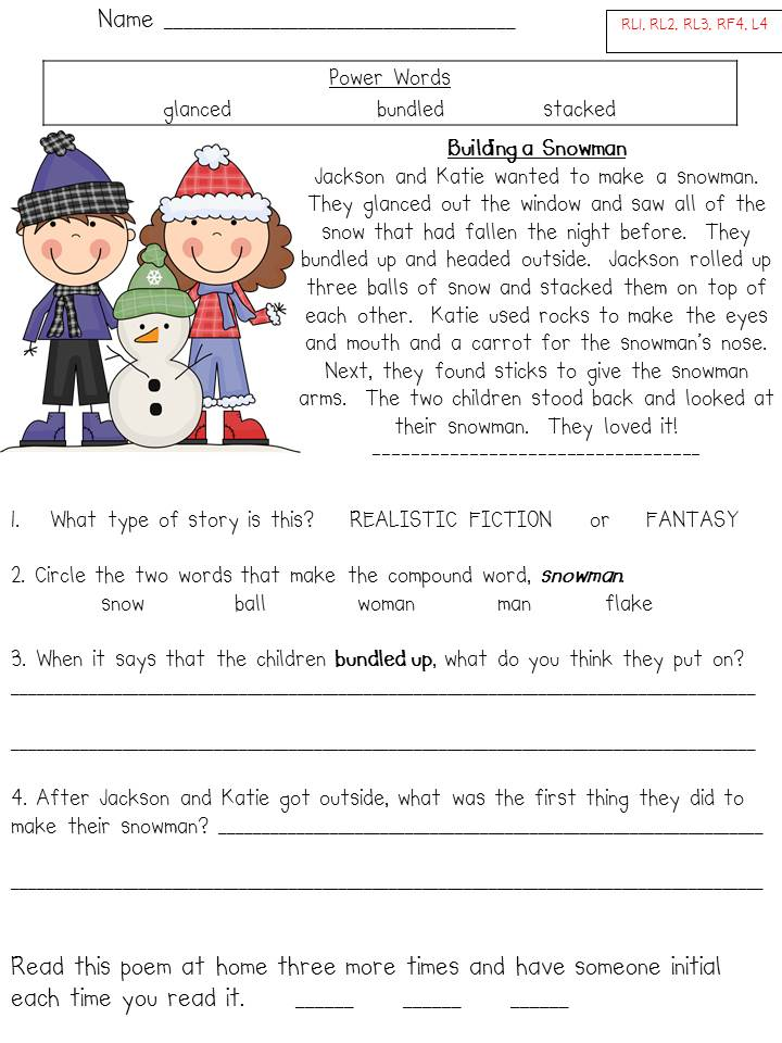 Comprehension Archives - Page 2 of 5 - Fun in First