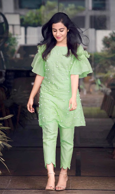 Inaya Cotton Moti Kurtis With Tulip Pant
