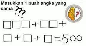 Jawaban Masukkan 1 Buah Angka yang Sama Brain Out