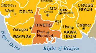 Map of Nigeria Niger Delta Region