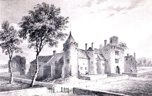 Illustration of Tiverton Castle from William Harding's The History of Tiverton, Vol 2
