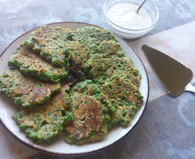 Green Pea Cutlets with a Creamy Sauce