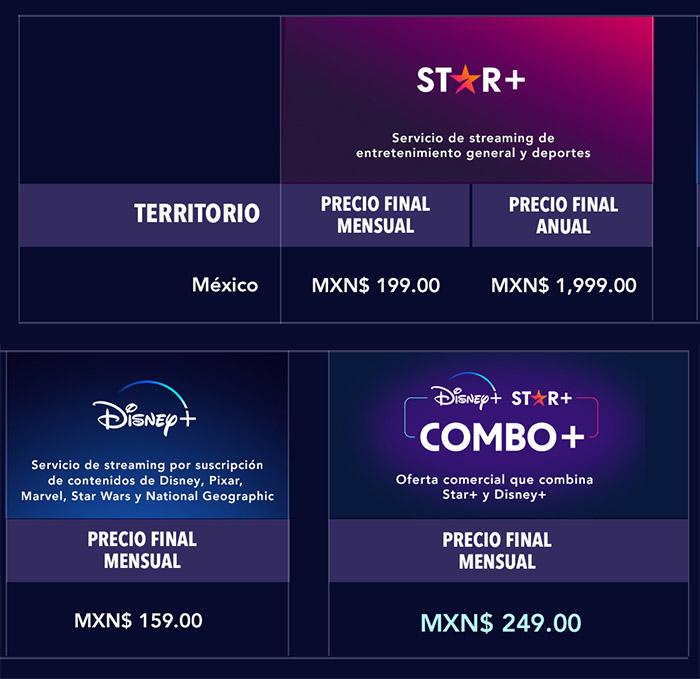 precios Star+