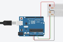 Program Sensor Cahaya LDR dengan LED dan Arduino UNO
