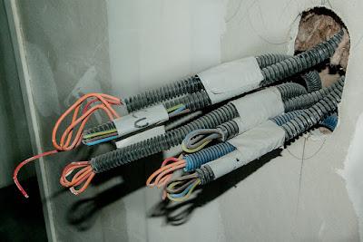 cavi-tubo corrugato-cartongesso-impianto elettrico