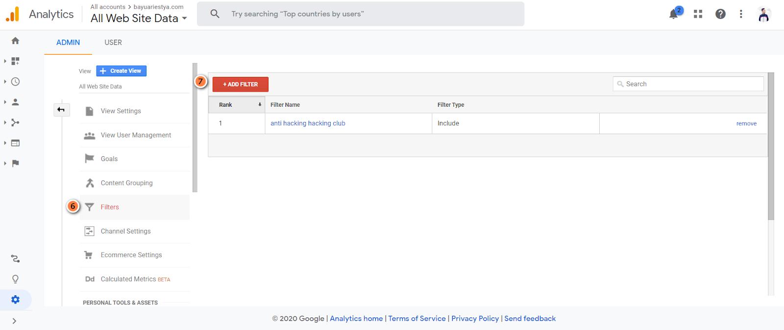 bayuariestya.com cara melindungi trafik google analytics agar tidak bisa terkena hack