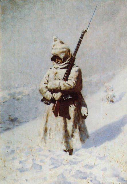 Василий Васильевич Верещагин - Солдат на снегу. 1877-1878