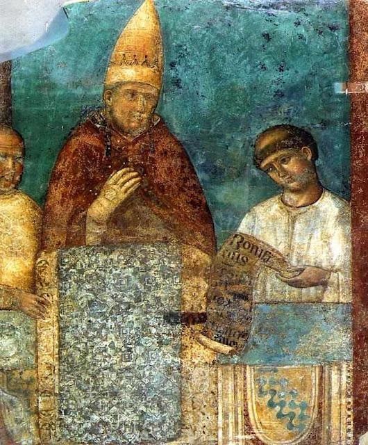 Papa Bonifácio VIII, afresco em Anagni