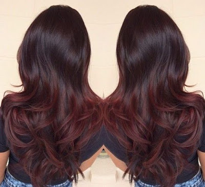 black to dark red ombre - subtle