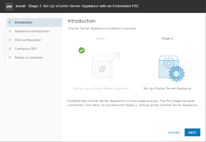 Deploy VCSA 6.7 Appliance with Embedded Platform Services Controller - Part 2