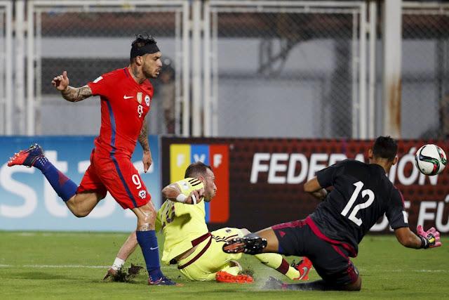 Venezuela y Chile en Clasificatorias a Rusia 2018, 29 de marzo de 2016