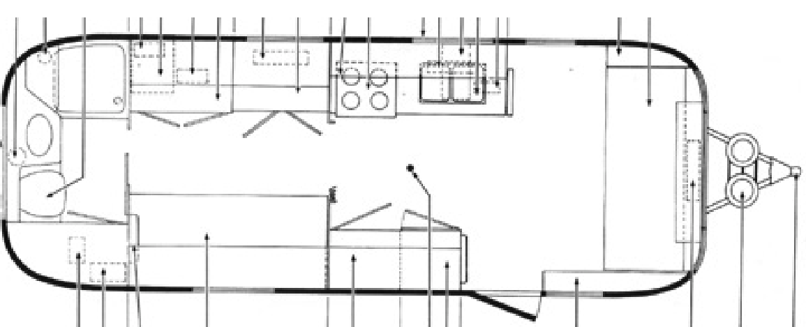 Australian Airstream Trailer: Design: Floorplans