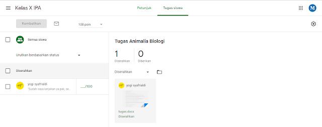 Cara Melihat Tugas Yang Dikirimkan Oleh Siswa Di Google Classroom