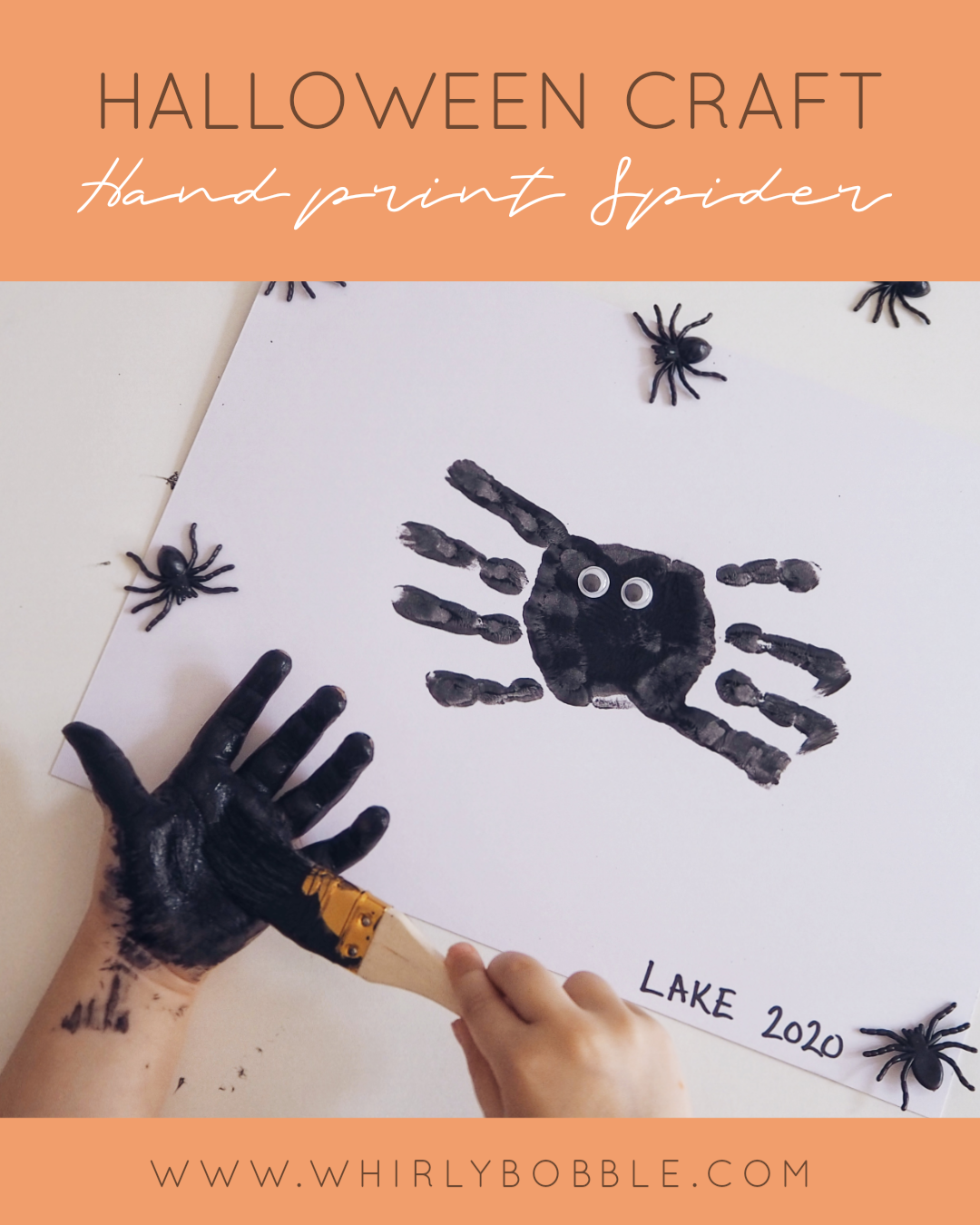 halloween craft handprint spider