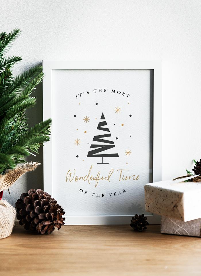 Free Wonderful Holiday Printable by Designersblog