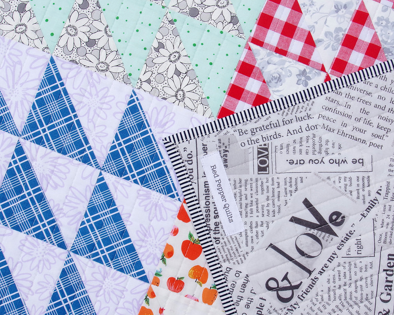 Retro Half Square Triangle Quilt II - pattern available | © Red Pepper Quilts 2018