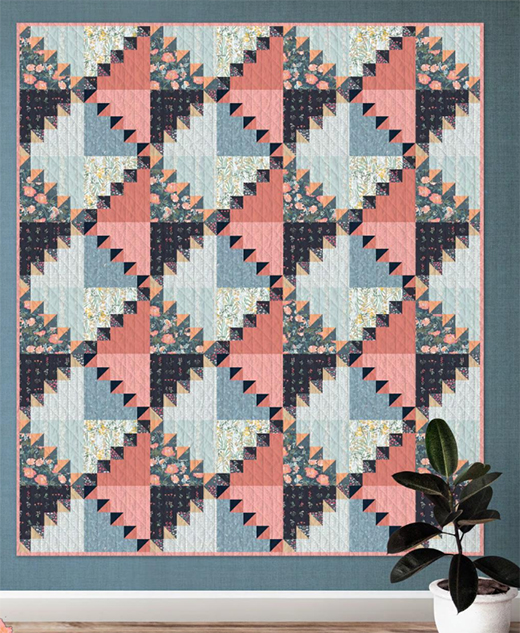 Handcraft Quilt designed by Katarina Roccella for Live art gallery fabrics Studio, featuring Picturesque Collection
