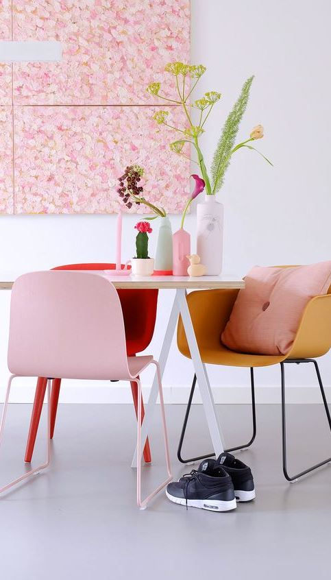 pink home interior design