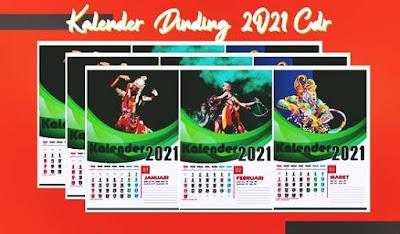 kalender dinding cdr 2021