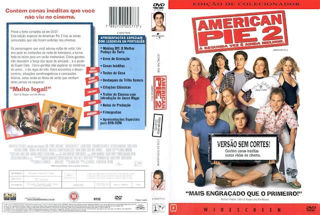 Capa DVD American Pie 2 A Segunda Vez é Ainda Melhor