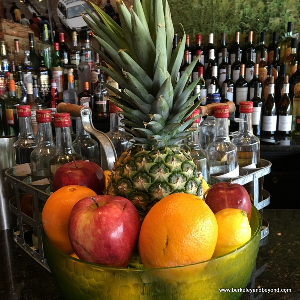 fruit bowl at bar at Pio Pio 2 in Jackson Heights, Queens, New York