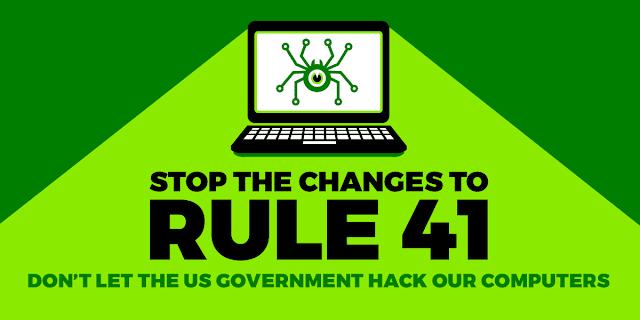 Não deixe que o governo dos EUA hackeie nossos computadores, nós dizemos NÃO à lei 41!