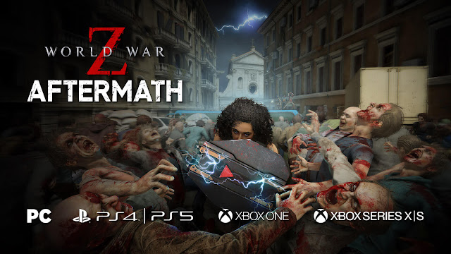 world war z aftermath expanded edition co-op zombie shooter game pc egs steam ps4 playstation 5 ps5 xb1 xbox series X xsx next-gen saber interactive mad dog games