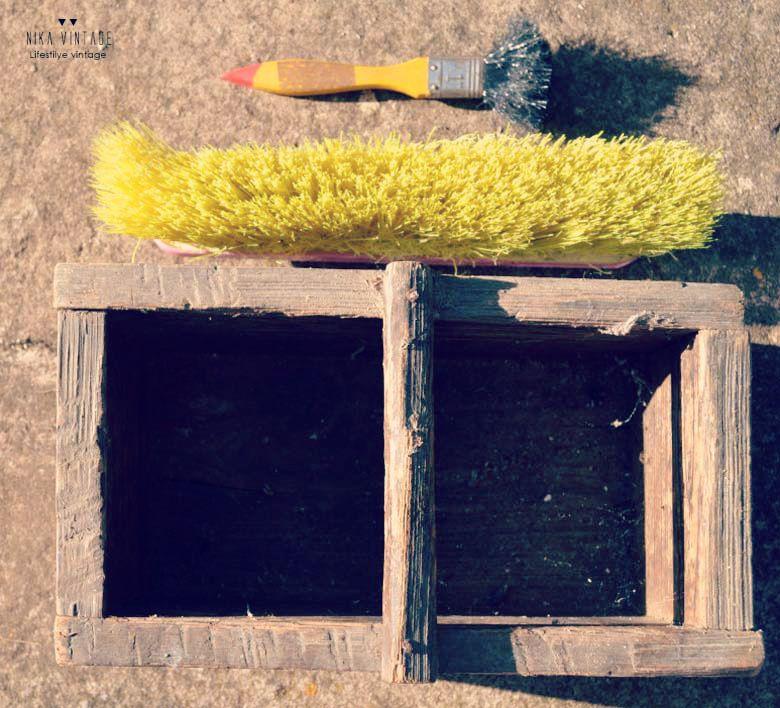 diy, comedero animales, comedero madera, transformacion, macetero,