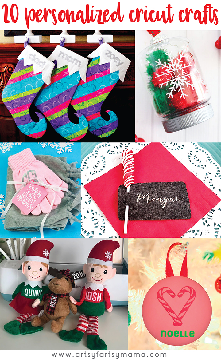20+ Personalized Cricut Christmas Crafts