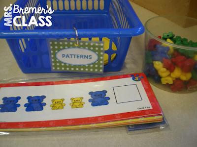 Math centers for Kindergarten