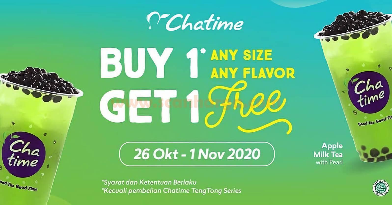 Promo Chatime Buy 1 Get 1 [GRATIS Apple Greentea]*